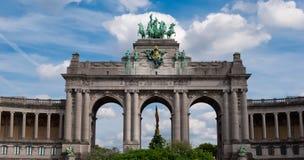 凯旋式弧, Parc du Cinquantenaire,布鲁塞尔 免版税库存图片