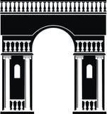 凯旋式曲拱的剪影 库存图片