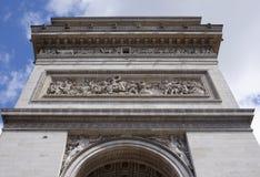 凯旋式的曲拱 在墙壁上有争斗 J争斗  免版税库存照片