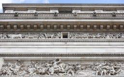 凯旋式的曲拱 在墙壁上有争斗 Je争斗  免版税图库摄影