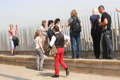 凯旋门上面,巴黎 免版税图库摄影