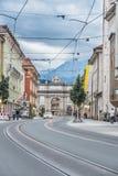 凯旋门在因斯布鲁克,奥地利 图库摄影