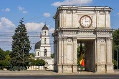 凯旋门在基希纳乌,摩尔多瓦 图库摄影