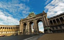 凯旋门在布鲁塞尔,比利时 免版税库存照片