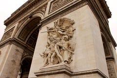 凯旋门在巴黎 免版税库存图片