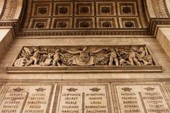 凯旋门在巴黎 免版税库存照片