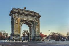 凯旋门布加勒斯特,罗马尼亚 库存照片