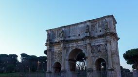 凯旋门康斯坦丁上面  罗马, Ital 股票录像