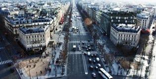 从凯旋门的巴黎 免版税库存图片
