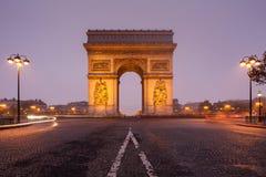 凯旋门,巴黎,法国 免版税图库摄影