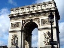 凯旋门-胜利曲拱在巴黎 库存图片
