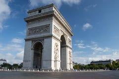 凯旋门巴黎 免版税图库摄影