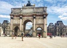 凯旋门de carousel巴黎 免版税库存照片