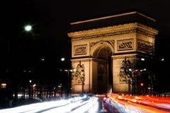 凯旋门de l'Etoile在巴黎 免版税库存照片