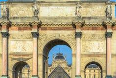 凯旋门du Carrousel,巴黎,法国 免版税库存图片