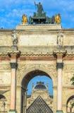 凯旋门du Carrousel,巴黎,法国 库存照片