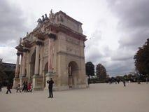 凯旋门du Carrousel, Tuileries庭院,巴黎,法国 图库摄影