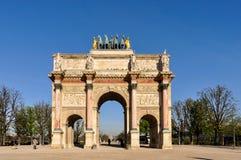 凯旋门du Carrousel 免版税库存图片