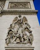 凯旋门La抵抗de 1814 免版税库存照片