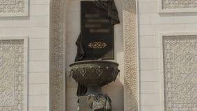 凯旋门timelapse hyperlapse和城市的中央部分在阿斯塔纳,哈萨克斯坦 影视素材