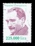 凯末尔阿塔图尔克(1881-1938), serie,大约1999年 库存图片