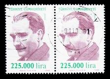 凯末尔阿塔图尔克(1881-1938), serie,大约1999年 库存照片