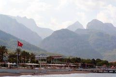 凯梅尔,土耳其- 06 20 2014年 手段海岸看法  免版税库存图片
