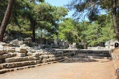 凯梅尔,安塔利亚- 2012年7月14日 Phaselis土耳其古城 免版税图库摄影