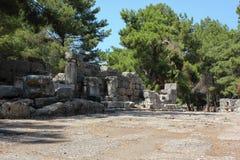 凯梅尔,安塔利亚- 2012年7月14日 Phaselis土耳其古城 免版税库存照片
