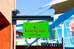 凯特在商店前面标志的锹商标 图库摄影