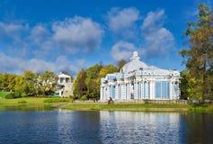 凯瑟琳公园在Tsarskoe Selo,俄罗斯 图库摄影