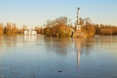 凯瑟琳公园, Tsarskoe Selo 库存图片
