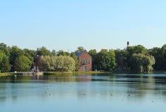 凯瑟琳公园, Tsarskoye Selo 免版税库存照片