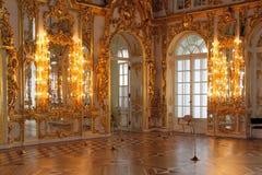 凯瑟琳大厅宫殿s selo tsarskoe 库存图片