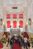 凯瑟琳宫殿内部,一个洛可可式的宫殿在Tsarskoye Selo, 库存照片