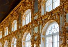 凯瑟琳宫殿内部  免版税库存照片