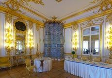 凯瑟琳宫殿内部  免版税库存图片