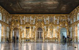 凯瑟琳宫殿内部v 免版税图库摄影