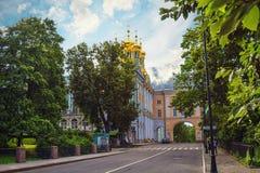 凯瑟琳宫殿和学苑在Tsarskoe Selo 免版税库存照片