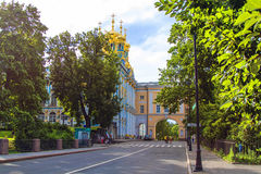 凯瑟琳宫殿和学苑在Tsarskoe Selo 免版税库存图片