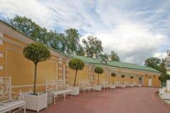 凯瑟琳宫殿圆周翼ST的 彼得斯堡, TSARSKOYE SELO,俄罗斯 库存照片