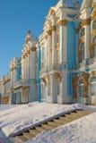 凯瑟琳宫殿在一个冬天早晨 彼得斯堡圣徒 库存图片