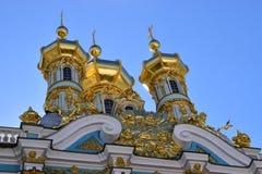 凯瑟琳宫殿在圣彼德堡皇家村庄  图库摄影