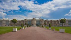 凯瑟琳宫殿彼得斯堡俄国selo st tsarskoe 位于Tsarskoye Selo普希金,圣彼德堡,俄罗斯镇  图库摄影