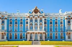 凯瑟琳宫殿彼得斯堡俄国selo st tsarskoe 免版税库存图片