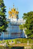 凯瑟琳宫殿彼得斯堡俄国selo st tsarskoe 图库摄影