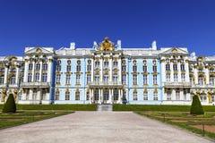 凯瑟琳宫殿彼得斯堡俄国selo st tsarskoe Tsarskoye Selo,普希金镇 免版税库存图片