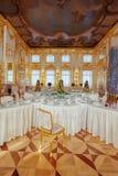凯瑟琳宫殿的内部在圣宠物附近的Tsarskoye Selo, 库存图片