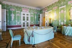 凯瑟琳宫殿的内部在Tsarskoye Selo (普希金), St 库存照片
