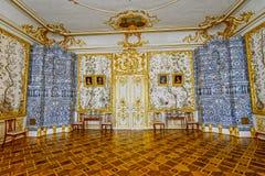 凯瑟琳宫殿的华丽内部 图库摄影